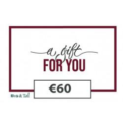 Cadeaubon €60