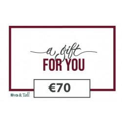 Cadeaubon €70